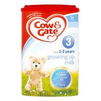 英国Cow&Gate牛栏婴幼儿配方奶粉3段(1-2周岁宝宝 900g)