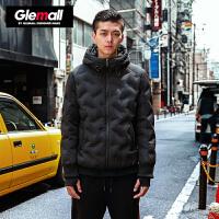 森马潮牌GLEMALL 短款羽绒服男双层防风袖无缝工艺防跑绒轻便舒适外套