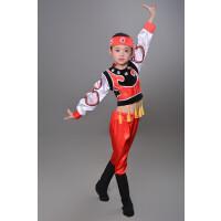 少儿少数民族演出服儿童表演服装蒙古族藏族舞蹈男童表演服饰