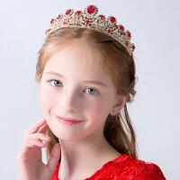 儿童头饰女童皇冠走秀演出王冠小公主发箍新款小女孩配饰发饰