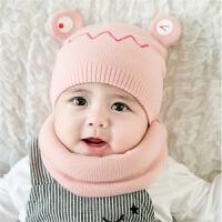 儿童帽子秋冬季薄款婴幼儿毛线帽宝宝帽男女孩公主帽