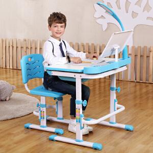 御目  儿童学习桌 可升降儿童书桌椅学生学习桌男孩女孩写字桌椅套装儿童写字桌子椅子满额减限时抢礼品卡学生用品