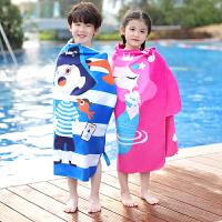 儿童浴巾速干吸水游泳毛巾卡通可爱快干女宝宝男童大号