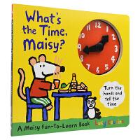 【首页抢券300-100】What's the time,Maisy?小鼠波波几点了?时钟玩具书 认识时间表达 儿童英文