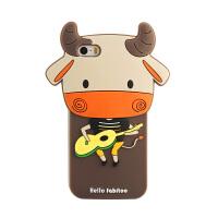 法芘兔 iphone5s手机壳苹果5保护套6s防摔硅胶套苹果6卡通女款新