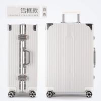 行礼拉箱手拉箱学生时尚潮流复古万向轮包铝框拉杆箱 登机旅行箱包