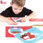 Endu恩都画画本 儿童画画书 涂色本3-6岁幼儿园宝宝填色涂鸦3本套装 男孩小汽车涂色书 女孩公主涂色本