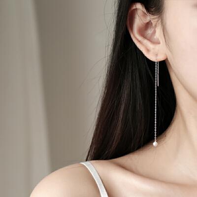 耳线耳坠女耳环气质长款个性吊坠简约潮人耳饰