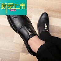 新品上市型师皮鞋男士韩版亮面漆皮英伦休闲鞋夜场内增高6cm8男鞋子婚鞋