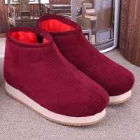 中老年棉鞋女保暖加厚冬季加绒居家鞋手工妈妈棉鞋男士棉拖鞋