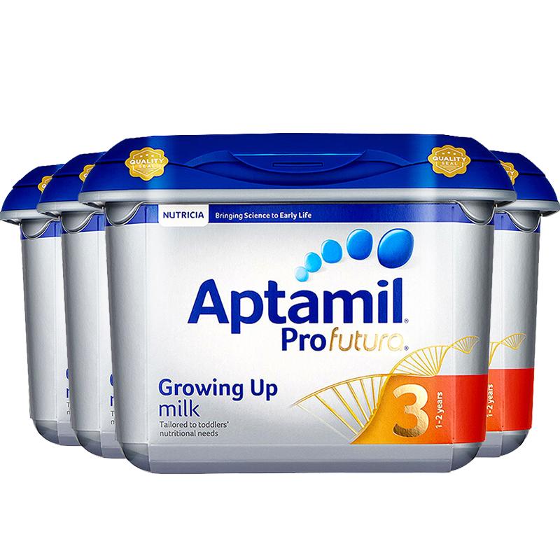【3段白金】英国直邮/保税区发货 Aptamil爱他美 英爱白金婴幼儿奶粉 三段(1岁以上) 800g*4罐 海外购英国原产,清关需实名