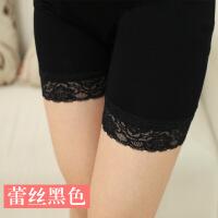 孕妇装夏季薄款孕妇安全裤三分打底裤蕾丝托腹短裤防走光加肥大码