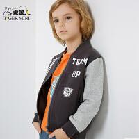 【618大促-每满100减50】小虎宝儿童装男童外套儿童夹克上衣中大童2018春款新品变形金刚
