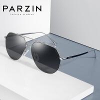 帕森尼龙偏光太阳镜男士金属大框驾驶镜潮墨镜蛤蟆镜时尚新品8173