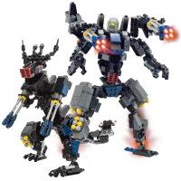 古迪积木拼装变形机器人恐龙金刚益智6-12岁男孩玩具299片