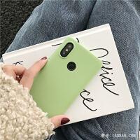 抹茶绿纯色简约红米note7手机壳小米note5/4x新款6pro硅胶5plus磨砂软壳6a防摔女款