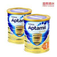 Aptamil 澳洲爱他美金装版婴儿奶粉1段(0-6个月)900g/罐 两罐装(海外购)