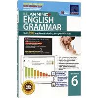 【首页抢券300-100】SAP Learning Grammar Workbook 6 小学六年级英语语法练习册在线测