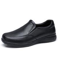 camel 骆驼男鞋春季新品爸爸鞋舒适套脚商务牛皮鞋轻底健步鞋
