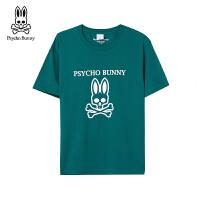 PSYCHO BUNNY短袖T恤红绿男女同款 疯狂兔子 骷髅兔 潮牌