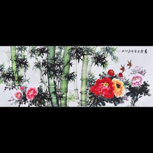 广西省美术家协会会员 李老师《富贵平安》HN12691