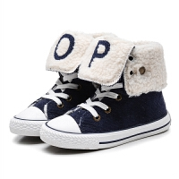 儿童棉鞋冬季高帮保暖休闲棉鞋