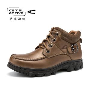 Camel Active/骆驼动感马丁靴男英伦高帮鞋秋冬真皮男士圆头皮鞋
