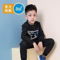 【开学季到手价:229.5】361度童装 男童长袖套装针织运动套装儿童套装2020新品男童休闲套装 N51933401