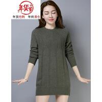冬季毛衣女套头中长款宽松韩版外穿秋冬天保暖加厚打底针织羊毛衫