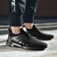 运动鞋 男士轻便透气系带低帮男式旅游鞋网鞋学生青少年春季韩版跑步鞋休闲男鞋子