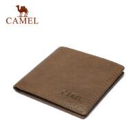 Camel/骆驼男士短款钱包牛皮时尚复古男款钱夹真皮横款青年男皮夹