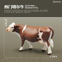 家禽仿真动物牛马羊猪儿童认知牧场农场动物模型玩具驴狗猫鸭鹅鸡