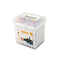 晨光(M&G)文具48色快干双头马克笔 纤维头学生重点标记记号笔 涂鸦笔绘画笔 48支/盒APMV0903