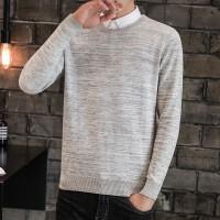 秋冬季新款毛衣男圆领韩版修身线衫潮流男装套头针织衫个性毛线衣