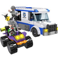 城市警察拼插积木组装儿童玩具军事拼装玩具早教益智男孩6-9-12岁