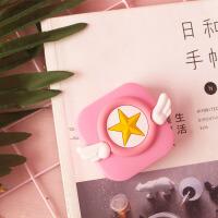 卡通小樱魔法阵美瞳盒粉色系隐形近视眼镜盒伴侣盒子便携护理盒