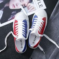 情侣帆布鞋女学生鞋子韩版运动社会板鞋休闲平底小白鞋原宿风春季