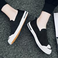 佐森度夏季新款男士帆布鞋韩版休闲学生一脚蹬懒人布鞋潮流男鞋子