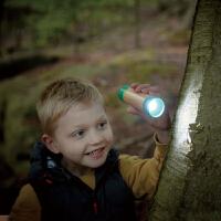 Hape儿童户外玩具拉环蓄能手电筒4岁+