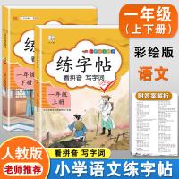 练字帖一年级上下册 人教版小学生语文看拼音写词语字帖
