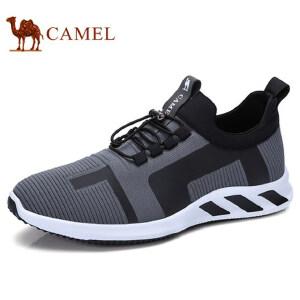 camel 骆驼男鞋低帮鞋运动休闲松紧带时尚休闲跑步鞋男