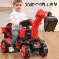 儿童挖掘机工程车男孩玩具汽车可坐人大号童车电动挖土机滑行车