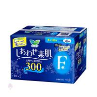 【当当海外购】日本花王LAURI乐而雅 夜用清爽瞬吸护翼卫生巾 10片 夜用型