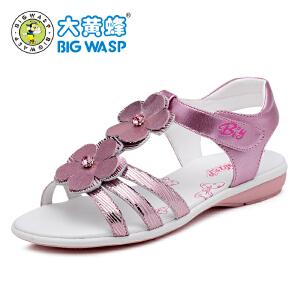 大黄蜂童鞋 夏季女童凉鞋2017新款 儿童鞋子中大童女童韩版公主鞋
