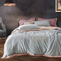 ins床上四件套冰丝欧式丝滑北欧风床罩裸睡床单被套1.8米床笠
