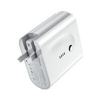 充电器+充电宝二合一5000mAh容量移动电源迷你便携小巧usb多口插头快充 白色