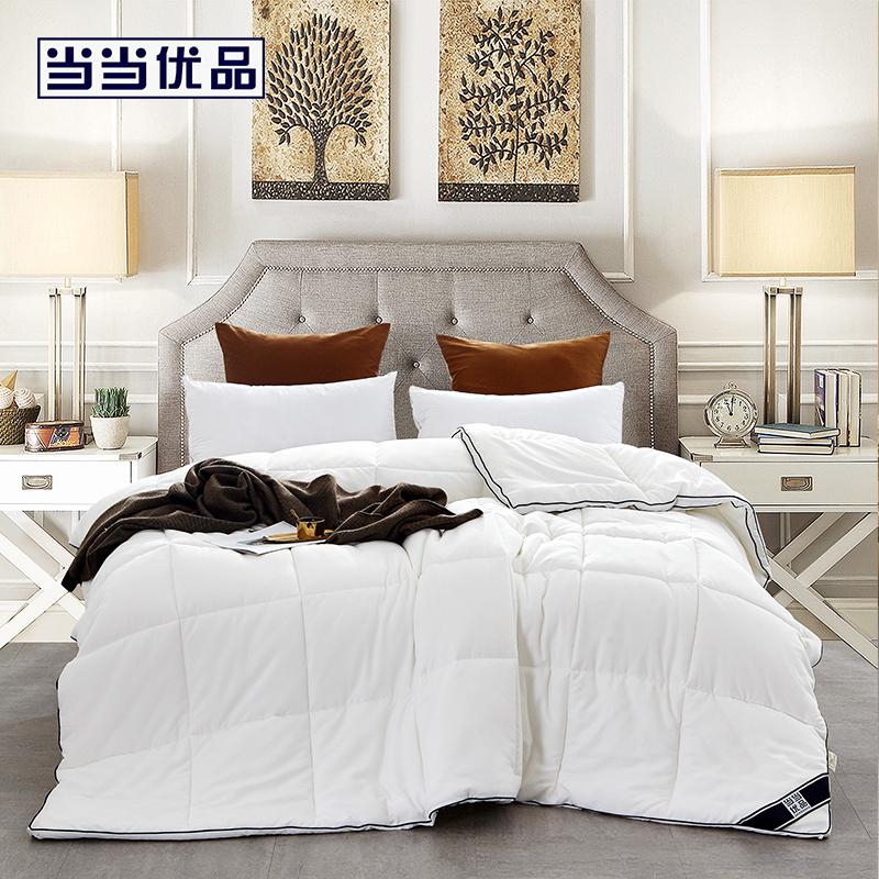 当当优品暖绒纤维冬被 双人被子200*230cm 白色 暖绒纤维冬被