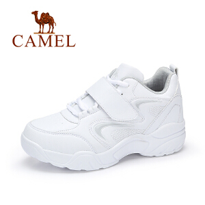 Camel/骆驼女鞋2017秋季新品时尚舒适魔术贴跑步鞋简约百搭运动鞋