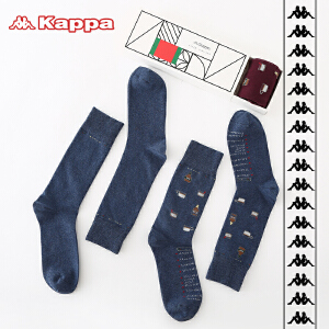 Kappa/卡帕(2双装)个性印花时尚潮流长筒袜打底袜子KP8W06