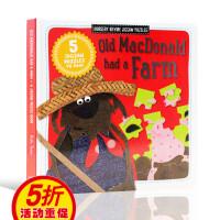 欧美经典儿歌童谣英文原版绘本 Old Macdonald had a Farm 王老先生有块地老农场 可拼图 儿童启蒙